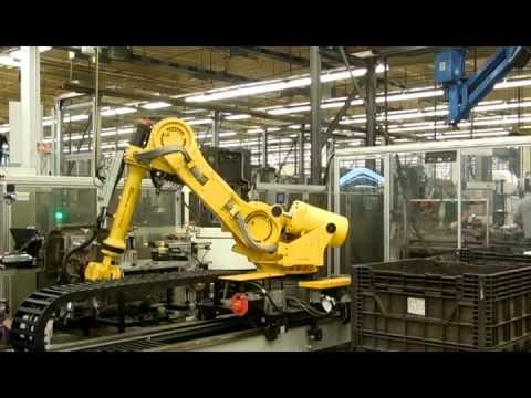 Embedded thumbnail for Horizontal Mill Pallet System - Robot Loaded